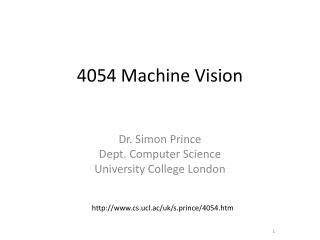 4054 Machine Vision