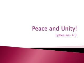 Peace and Unity!