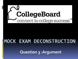 Mock Exam Deconstruction