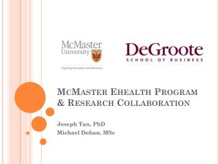 McMaster  Ehealth  Program & Research Collaboration