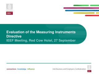 Evaluation of the Measuring Instruments Directive