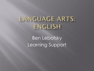 Language Arts: English