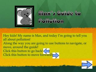 Max's Guide to Pollution