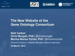 The New Website of the  Gene Ontology  Consortium