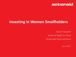 Investing in Women Smallholders