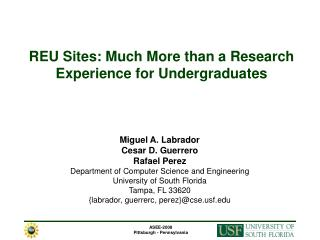 REU Sites: Much More than a Research Experience for Undergraduates