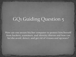GQ1 Guiding Question 5