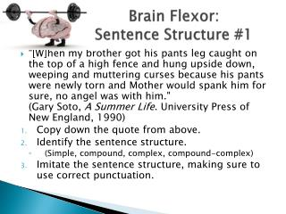 Brain Flexor:   Sentence Structure #1