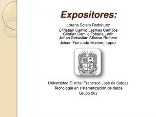 Expositores: