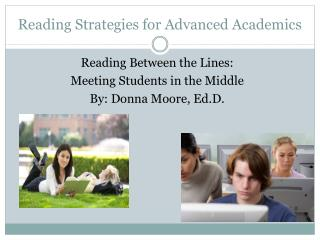 Reading Strategies for Advanced Academics