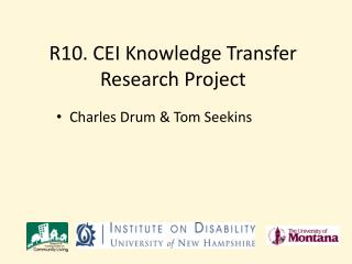 R10. CEI Knowledge Transfer Research Project
