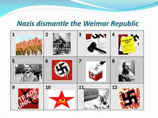 Nazis dismantle the Weimar Republic