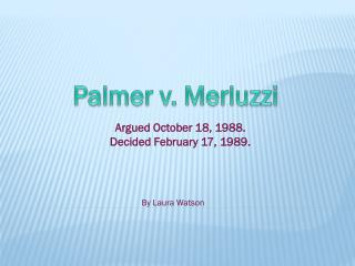 Palmer v. Merluzzi