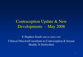 Contraception Update  New Developments    May 2008