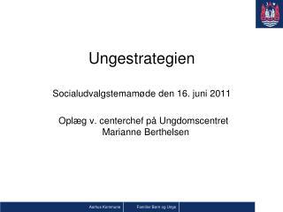 Ungestrategien Socialudvalgstemamøde den 16. juni 2011