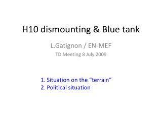 H10 dismounting & Blue tank