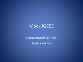 Mock IGCSE