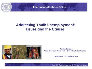 Addressing Youth Unemployment:  Issues and the Causes