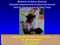 Ministerio de Salud y Deportes  Secretar a Departamental de Desarrollo Humano Servicio Departamental de Salud Tarija