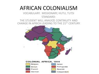 AFRICAN COLONIALISM