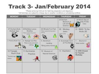Track 3 Calendar JanFeb 2014