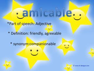 *Part of speech: Adjective