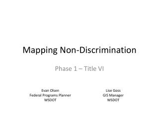 Mapping Non-Discrimination