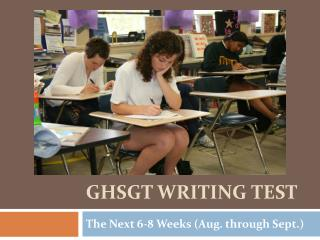 GHSGT Writing Test