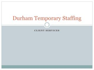 Durham Temporary Staffing