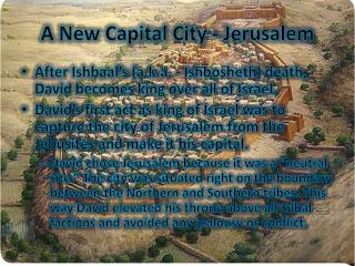 A New Capital City - Jerusalem