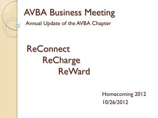 AVBA Business Meeting