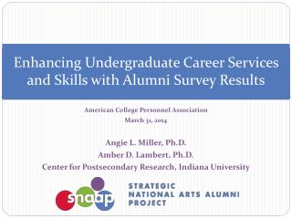 Enhancing Undergraduate Career Services and Skills with Alumni Survey Results