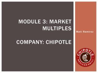 Module 3: market Multiples Company: chipotle