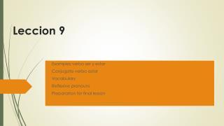 Leccion  9