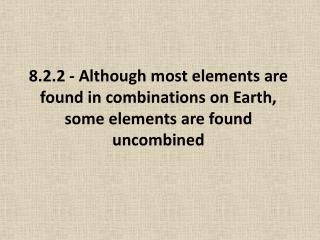 Reactivity of Elements
