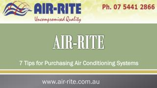 7 Tips for Purchasing Air Conditioning Systems