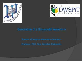 Student:  Gherghina Alexandru -Georgica Proffesor : PhD. Eng.  Zdzislaw Polkowski