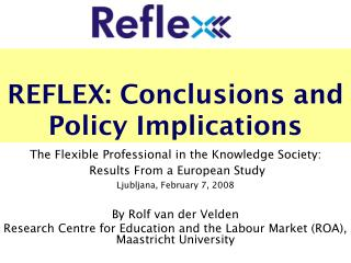 REFLEX: Conclusions and Policy Implications