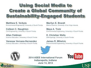 Using Social Media to  Create a Global Community of Sustainability-Engaged Students