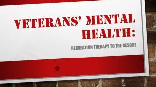 Veterans' mental health: