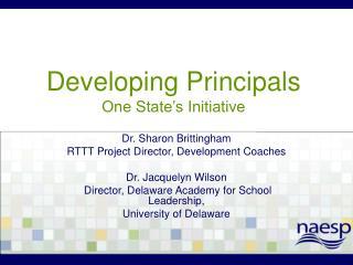 Developing Principals One State's Initiative
