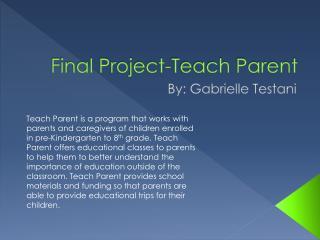 Final Project-Teach Parent