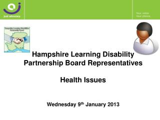 Hampshire Learning Disability  Partnership Board Representatives Health Issues