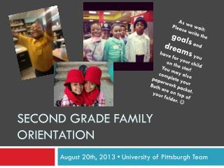 SECOND grade family orientation