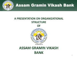 A PRESENTATION ON ORGANIZATIONAL STRUCTURE  OF ASSAM GRAMIN VIKASH  BANK