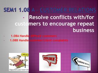 SEM1 1.08 A -  Customer Relations