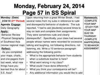 Monday, February 24, 2014 Page 57 in SS Spiral