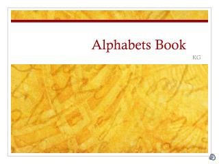 Alphabets Book