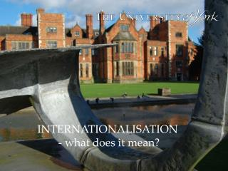 INTERNATIONALISATION  - what does it mean?