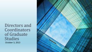 Directors and Coordinators of Graduate Studies